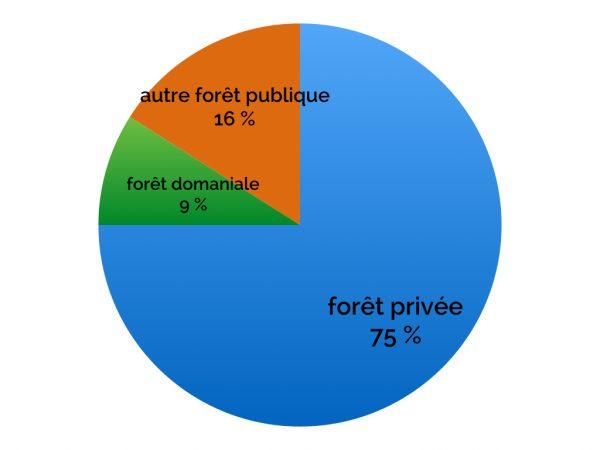 Répartition de la propriété forestière en France métropolitaine