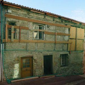 Maison à pans de bois, restauration de la structure, du clos et du couvert